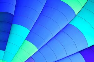 green photography blue hot air balloons abstract