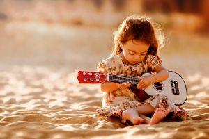 guitar photography children musical instrument
