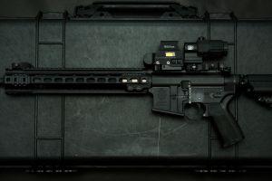 gun black rifle assault rifle ar-15