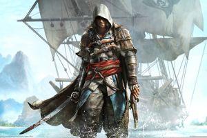 gun sailing ship video games video game art hoods assassin's creed
