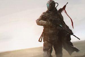 gun soldier science fiction
