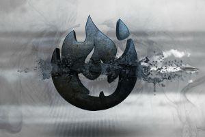 gun triple screen digital art weapon artwork