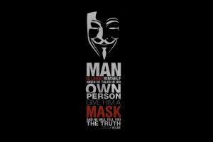 guy fawkes mask text anonymous simple background typography