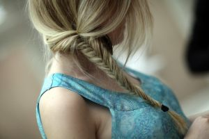 hair   braids model women blonde long hair
