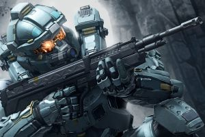 halo 5: guardians video games weapon military fred-104 soldier halo 5