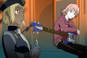 haruhara haruko bass guitars flcl police