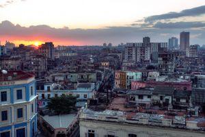 havana city rooftops sunset cityscape