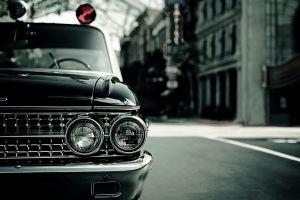 headlights photography car vintage police