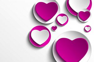 heart (design) purple abstract white