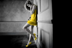 high heels blonde doutzen kroes women selective coloring