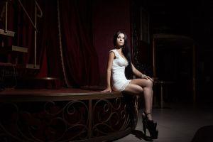 high heels model women sitting karina kardeliian
