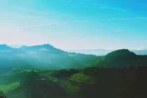 hills italy winter landscape filter nature