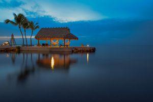 holiday sea palm trees resort tropical hammocks