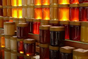 honey colorful food