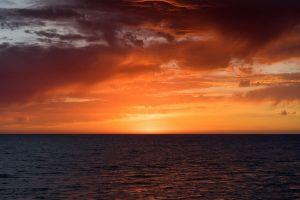 horizon orange sky skyscape landscape sunset sea