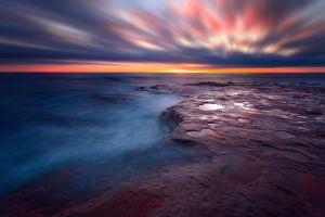 horizon water sky sea nature