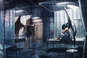 hospital anime girls angel wings