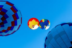 hot air balloons outdoors colorful worm's eye view