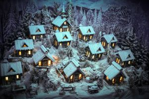 house snow winter miniatures