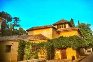 house spain architecture plants sky nature trees