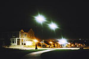house street night street light urban