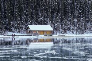 house water ice winter snow nature