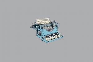 humor vintage piano typewriters digital art minimalism music simple background