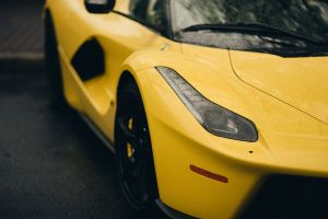 hybrid car ferrari yellow cars