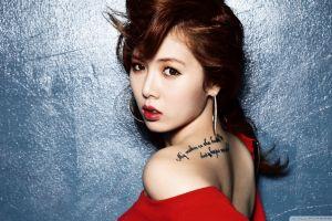 hyuna women k-pop korean brunette asian singer