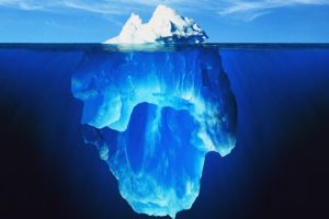 iceberg digital art underwater nature