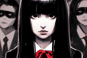 ilya kuvshinov black hair fan art gogo yubari kill bill
