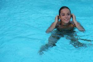 in water brunette alizee wet hair celebrity women