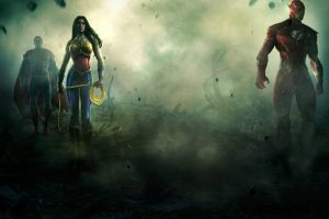 injustice god's among us wonder woman the flash superman
