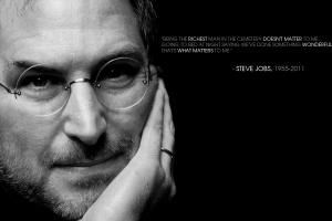 inspirational steve jobs monochrome motivational quote