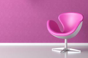 interior pink chair