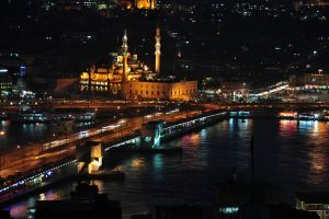 islam mosque river bridge