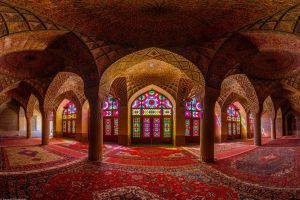 islam red islamic architecture iran pillar architecture