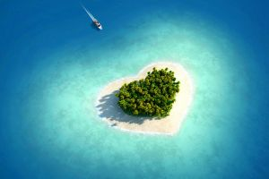 island tropical heart (design) boat