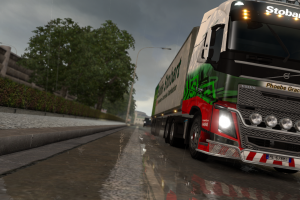 italy reflection truck lorry trees euro truck simulator 2 rain volvo fh16
