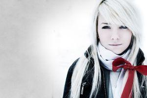 jacket women laura ivana simple background white hair black jackets scarf
