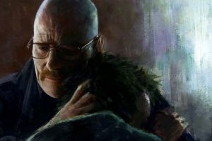 jessie pinkman heisenberg breaking bad chemistry oil painting walter white