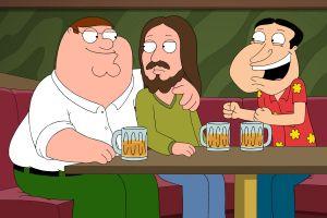 jesus christ family guy peter griffin glenn quagmire beer