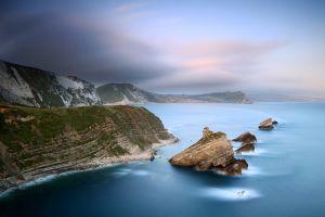 jurassic coast nature sea coast landscape