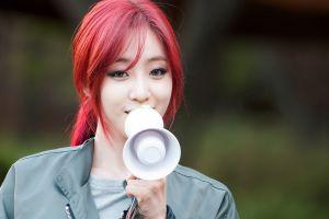 k-pop ponytail model eunjung asian depth of field t-ara women redhead