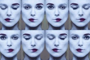 keira knightley actress face collage