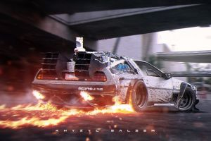 khyzyl saleem back to the future supercars delorean time travel