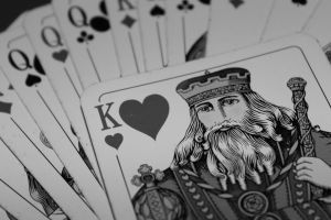king playing cards monochrome