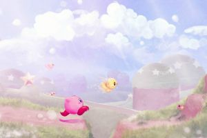 kirby video games digital art