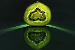 kiwi (fruit) reflection fruit food