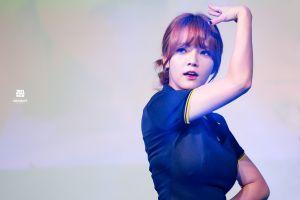 korean aoa k-pop jimin redhead
